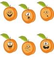 Emotion cartoon peach set 016 vector