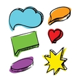 Speech bubbles colorful set vector