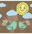 Sunshine weather with rain vector