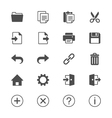 Application toolbar flat icons vector