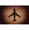 Plane  flat modern web button and space for your vector