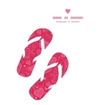 Doodle hearts flip flops silhouettes pattern frame vector