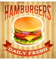 Fast food poster vector
