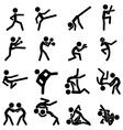 Sport pictogram icon set 03 martial arts vector