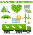 Ecology icons set 3 vector