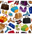 Seamless womans fashion accessory wallpaper vector