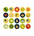 Flat icons set 1 vector
