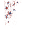 Stars on white patriotic vector