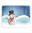 Snowman banner vector