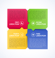 Four consecutive steps design element vector