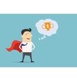 Cartoon businessman super hero character vector