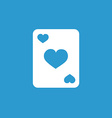 Poker icon white on the blue background vector