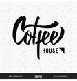 Coffee hand lettering - handmade calligraphy vector