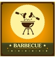 Retro barbecue grill poster design menu background vector