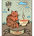 Retro banner coffee vector