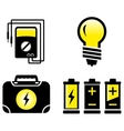 Glossy electrical objects vector