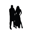 Couple silhouette black vector