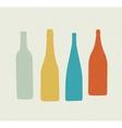 Bottle retro poster vector