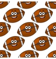 Seamless pattern of cartoon american footballs vector