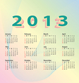 2013 calendar pastel color vector
