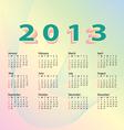 2013 calendar pastel color vector
