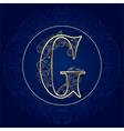 Vintage floral alphabet letter g vector
