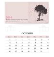 2014 calendar monthly calendar template for vector