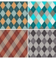 Set of seamless argyle patterns vector
