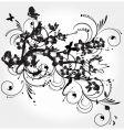 Grunge floral vector