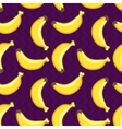 Seamless pattern with yellow bananas vector