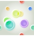 Paper on abstract circle background drop shadows vector