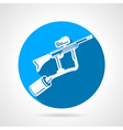Paintball rifle round icon vector
