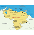 Bolivarian republic of venezuela - map vector