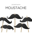 Hipster party design template with mustache vector