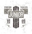 Emblem racing junior in retro style vector