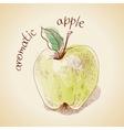 Vintage apple vector