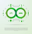 Infographic for ecology with mobius stripe vector