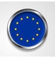 European union metal button flag vector