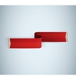 Red textured ribbon vector