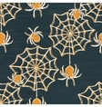 Grunge halloween seamless pattern vector