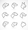 Image of an dog head vector