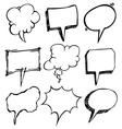 Bubble speech doodle vector