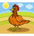 Hen farm animal cartoon vector