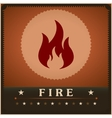 Fire flame poster creative design template vector