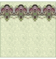 Ornamental background with flower ribbon vector