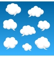 Flat speech clouds for you design vector