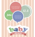 Colorful party balloons celebrating a newborn baby vector