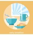 Breakfast time concept vector
