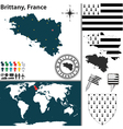 Brittany map vector