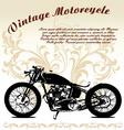 Vintage motorcycle vector